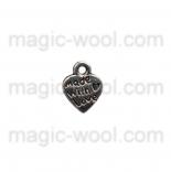 подвески металлические made with love 9мм*12мм серебро