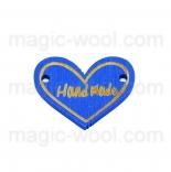 пуговицы декоративные сердечко синее