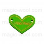 пуговицы декоративные сердечко зеленое