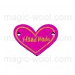 пуговицы декоративные сердечко розовое