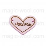 пуговицы декоративные сердечко светло розовое