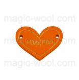пуговицы декоративные сердечко оранжевое