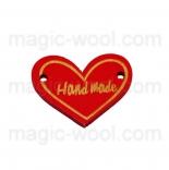 пуговицы декоративные сердечко красное