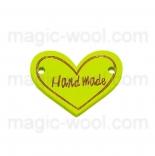 пуговицы декоративные сердечко желтое