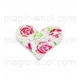 пуговицы декоративные сердечко с узором 1
