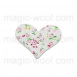 пуговицы декоративные сердечко с узором 2