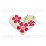 пуговицы декоративные сердечко с узором 4