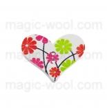 пуговицы декоративные сердечко с узором 7