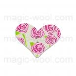 пуговицы декоративные сердечко с узором 3