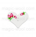 пуговицы декоративные сердечко с узором 5