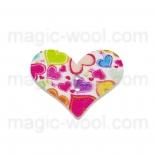 пуговицы декоративные сердечко с узором 6
