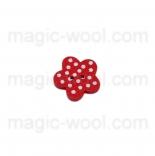 пуговицы декоративные цветок в точечку 3