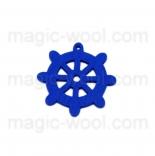 пуговицы декоративные штурвал синий