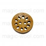 пуговицы декоративные деревянный ажур 01
