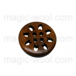 пуговицы декоративные деревянный ажур 02