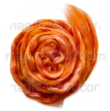 Созвездие - 21мкм меринос+шелк tussah оранжевый
