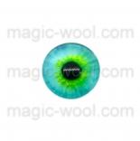 глазки для игрушек стеклянные реалистичные зеленые 10мм