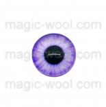 глазки для игрушек стеклянные реалистичные фиолетовые 10мм