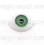 глазки для игрушек акриловые реалистичные зеленые 15мм*10мм