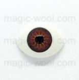 глазки для игрушек акриловые реалистичные карие 15мм*10мм