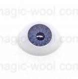 глазки для игрушек акриловые реалистичные голубые 15мм*10мм