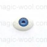 глазки для игрушек акриловые реалистичные голубые 11мм*8мм