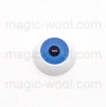глазки для игрушек акриловые реалистичные синие 12мм