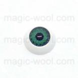 глазки для игрушек акриловые реалистичные зеленые 12мм