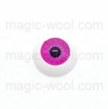 глазки для игрушек акриловые реалистичные розовые 12мм