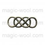 подвески металлические символ бесконечности кросс-коннектор 33мм*12мм антик