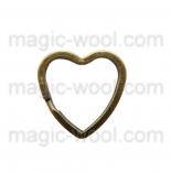 подвески металлические держатель для ключа сердце 30мм*30мм антик