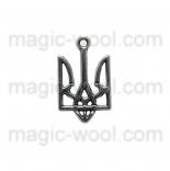 подвески металлические герб Украины 25мм*15мм серебро