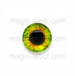 глазки для игрушек стеклянные 10мм цвет №2