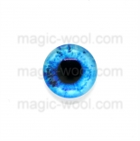 глазки для игрушек стеклянные 10мм цвет №1
