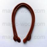 кожаные ручки для сумок светло коричневые 40см сплит кожа