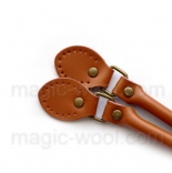 кожаные ручки для сумок светло коричневые с пряжкой 60см сплит кожа