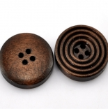 пуговицы декоративные круглая рифленая темная