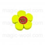 Аа пуговицы декоративныеe цветок ассорти 01 желтый
