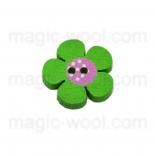 Аа пуговицы декоративныеe цветок ассорти 01 зеленый