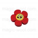 Аа пуговицы декоративныеe цветок ассорти 01 красный