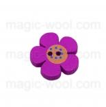 Аа пуговицы декоративныеe цветок ассорти 01 розовый