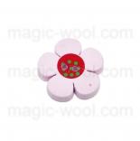 Аа пуговицы декоративныеe цветок ассорти 01 светло розовый