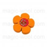 Аа пуговицы декоративныеe цветок ассорти 01 оранжевый