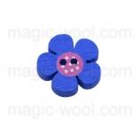 Аа пуговицы декоративныеe цветок ассорти 01 синий