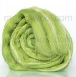 Леденец - 18 мкм меринос+шелк tussah майская зелень