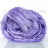Леденец - 18 мкм меринос+шелк tussah фиолетовый цветок
