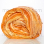 Леденец - 18 мкм меринос+шелк tussah папая