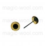глазки для игрушек янтарные 4мм