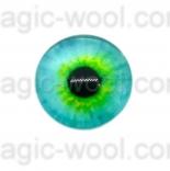 глазки для игрушек стеклянные 14мм цвет 9