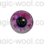 глазки для игрушек стеклянные 14мм цвет 12